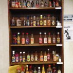So many choices of hot sauces!