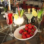 Refreshing cocktails and strawberries....