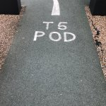 Signs to the PODS to and from are easy to see