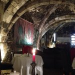 Breakfast in the 13th century wine cellar
