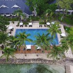 Pool and Clubhouse Aerial Shot