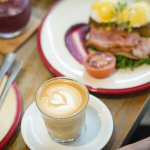 Egg Benedict with Latte