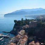 View across Sorrento from the room balcony