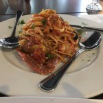 seafood linguine in tomato sauce