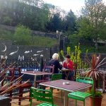 Our south facing canalside terrace has a panoramic view across Fielden Quay