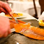 Smoked Salmon Carved Tableside Otto's French Restaurant London