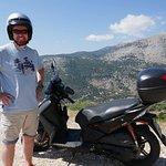 View on the mountain road above Agia Efimia