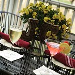 Enjoy diner and cocktails on the patio
