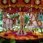 carousel made from flowers