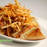 Club sandwich façon Sympo : poulet cajun mayo basilic