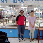 My Hoya Gems & Jewellery shop Owner on Right and myself on Left.