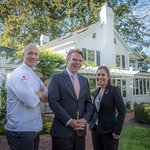 Executive Chef Colin Bedford, Maitre'D Joris Haarhuis, and Beverage Director Paula de Pano