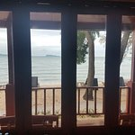 View front room straight out onto beach