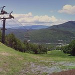 You ride chairlift to the top before you start the zip tour. Beautiful view!