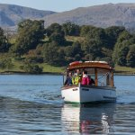Traditional wooden launch on the Green Cruise (Ambleside > Wray Castle > Brockhole > Ambleside)