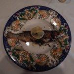 Mediterranean Branzino roasted with herbs