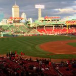 Picturesque Fenway and partial Boston skyline