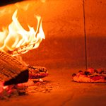 Wood fire oven pizza