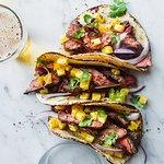 Steak Taco in corn tortillas