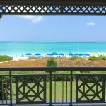 view from balcony of 2nd floor deluxe beach/ocean front 2 bedroom unit