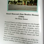 A local history book gives you the details about San Benito House.