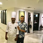 With Senior Sous Chef Jitendra Prakash Verma
