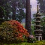 The Sapporo Lantern in fall. Photo by Roman Johnston.