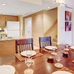Open concept kitchen in each unit.