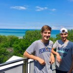 Overlooking Presque Isle from observation tower