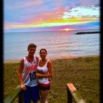 Presque Isle Beach 6 at sunset