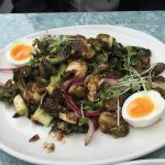Roasted Brussels Sprout Salad - YUM!
