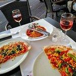 Vegan pizza and pasta