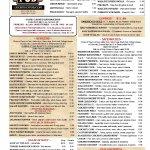 Lucky's menu