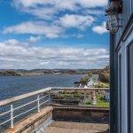 Balcony room view at The Crinan Hotel, Argyll, Scotland