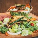 Italian Lettuce Salad with Grilled Veggies