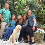 My family with Uendj (Wendy) Adele's fur baby