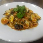 Spaghetti with Clams in a Rich Tomato Sauce
