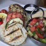 grilled seasonal veggies platter