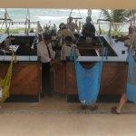 The lovely beach bar