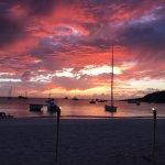 sunset at Sandy Ground