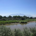 Rio Grande with Sandia mountains in the background