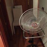 Fan provided by front desk