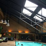 Indoor pool area. The gym is nearby.