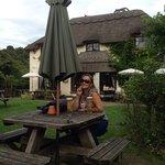 Nice pub, cool garden bar.