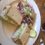 Crab sandwich W/ Mexican Colslaw!