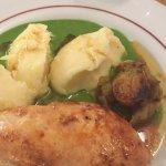 Chicken , flat leaf parsley sauce