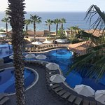This is a picture of one of the many pools this all-inclusive resort offers