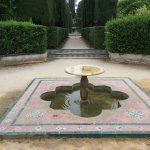 Fountain and pool in the park/grounds
