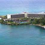 View of Turtle Bay Resort from Above - surrounded by ocean!