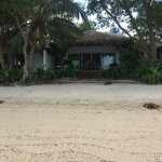 Photo of bungalow where we stayed, taken from near the ocean.